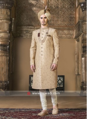 Golden Thread Work Sherwani