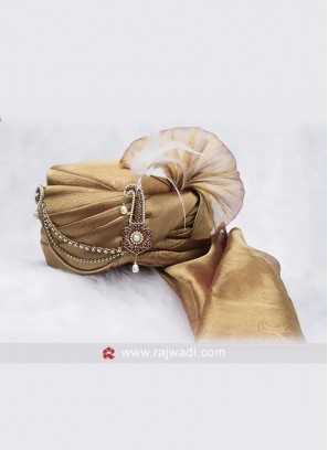 Golden Wedding Turban