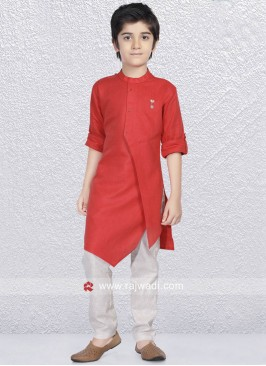 Round Neck Kurta Set For Boys
