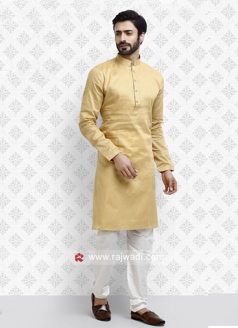 Golden yellow Color Kurta Pajama