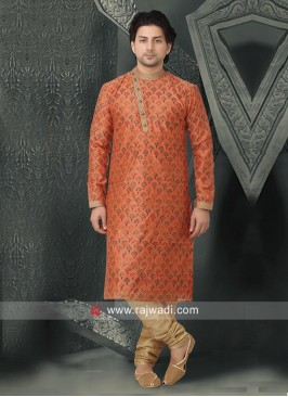 Orange Color Kurta Pajama