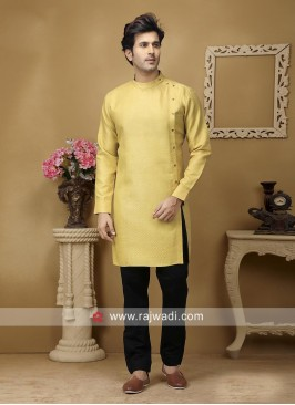 Golden Yellow Color Kurta Set