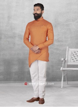 Attractive Orange Color Pathani Set