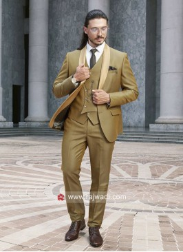 Golden Yellow Color Suit For Party