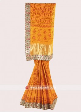 Golden Yellow Designer Saree