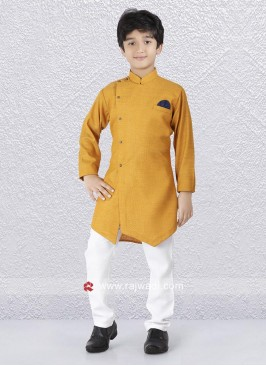 Golden Yellow Indo Western For Boys