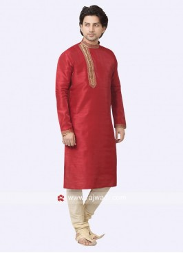 Attractive Round Neck Kurta Pajama