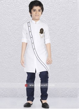 Designer White Color Kurta Pajama