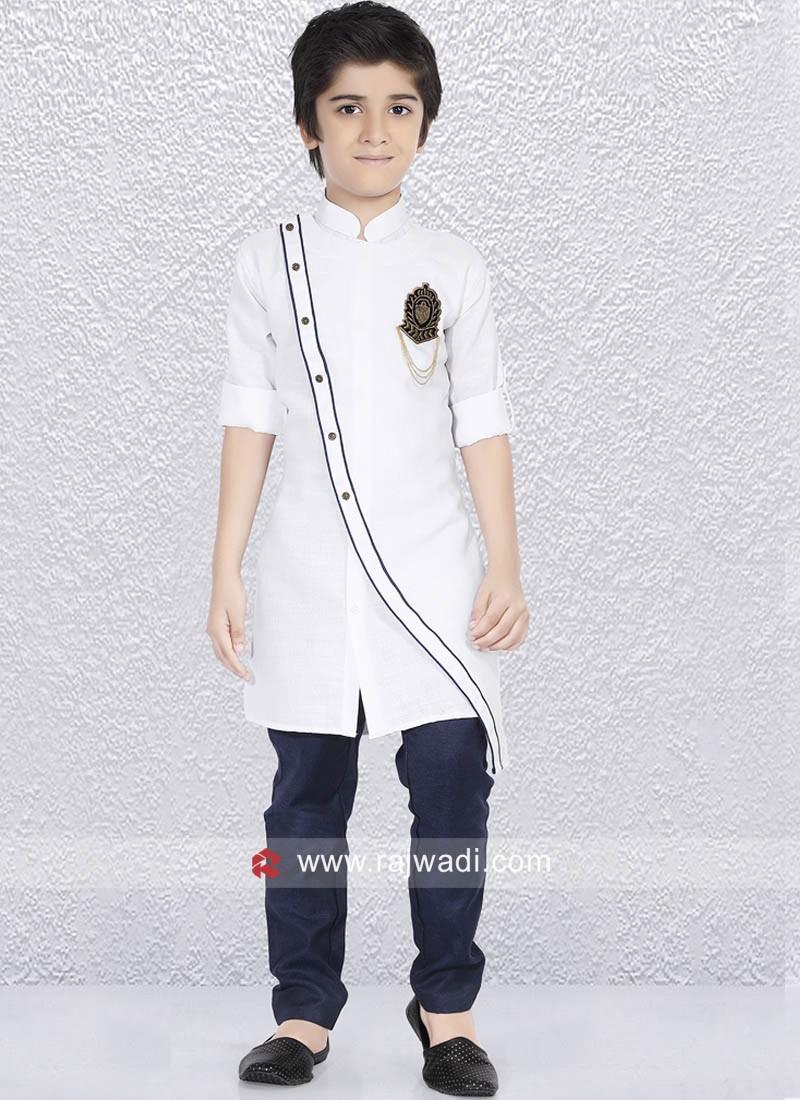 Designer White Color Kurta Pajama