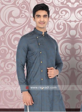 Smoke Grey Color kurta