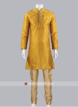 Golden Yellow Kurta Pajama