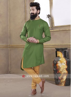 Green Color Mens Pathani Suit