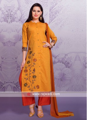 Golden Yellow Palazzo Suit