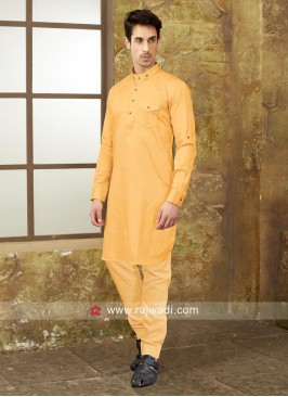 Golden Yellow Pathani Set