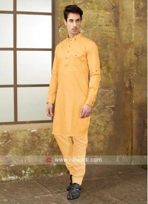 Golden Yellow Pathani Set