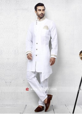 Stylish White Pathani Set For Party