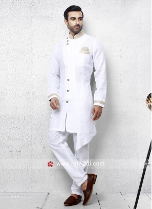 Stylish White Pathani Set For Party