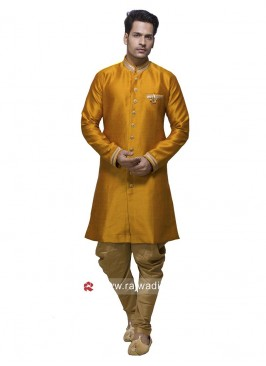 Golden Yellow Patiala Set