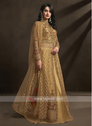 golden yellow salwar suit
