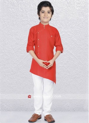 Plain Rust Color Kurta Set