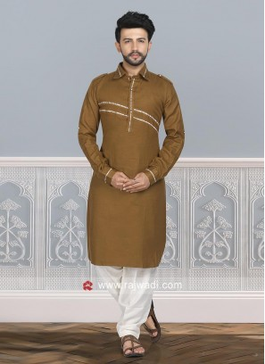 Goldenrod Color Pathani Suit