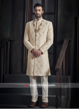 Goldenrod Long Sleeves Indo Western
