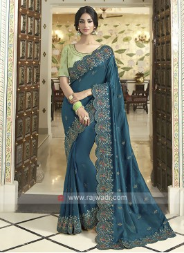 Gorgeous Art Silk Rama Blue Saree