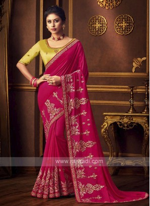 Gorgeous Art Silk Rani Saree