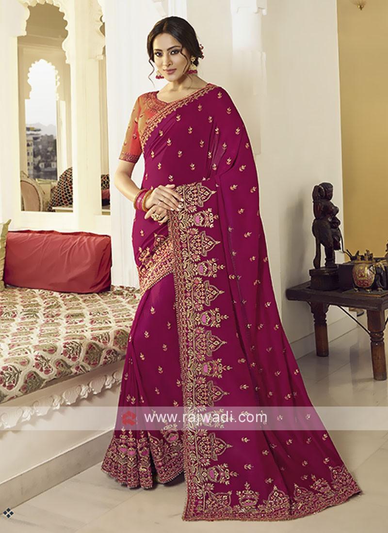 Gorgeous Art Silk Rani Saree