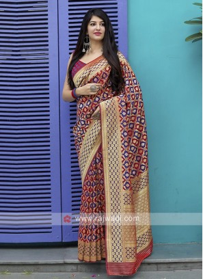 Gorgeous Banarasi Satin Saree
