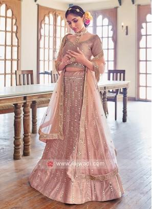 Gorgeous Dusty Rose Pink Lehenga Choli