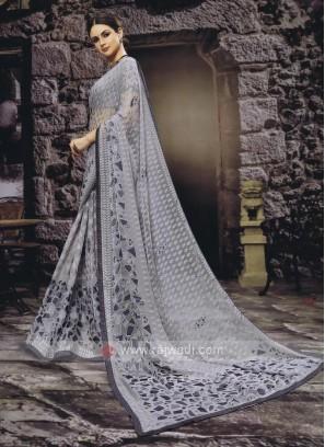 Gorgeous Grey color Saree