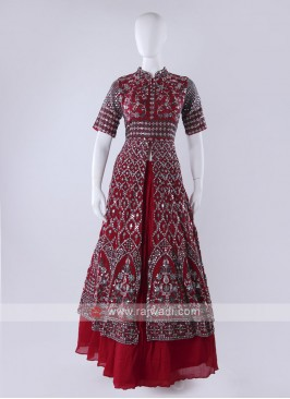 Gorgeous Maroon Choli Suit