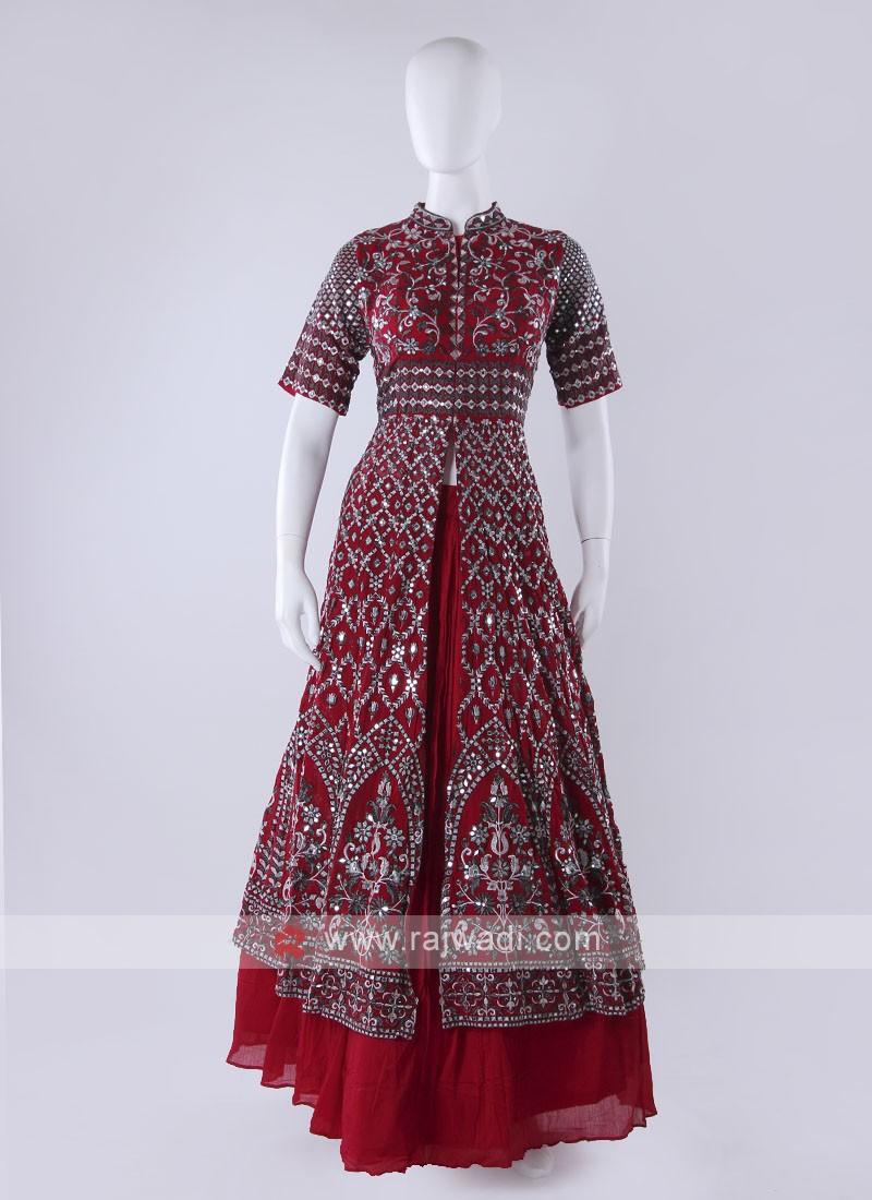 Gorgeous Maroon Choli Suit