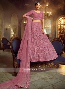 Gorgeous Net Lehenga Choli In Pink