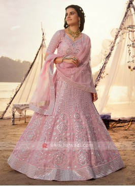 Gorgeous Pink Color Lehenga Choli