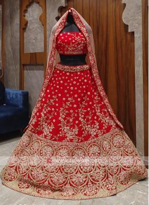 Gorgeous red bridal lehenga choli