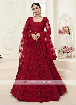 gorgeous red color lehenga choli