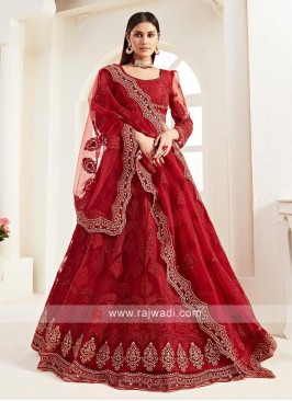Gorgeous Red Net Lehenga Choli