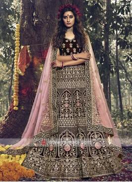 Gorgeous Velvet Bridal Lehenga Choli