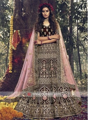 Gorgeous Velvet Bridal Lehenga Choli