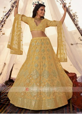 Gorgeous Yellow Color Lehenga Choli