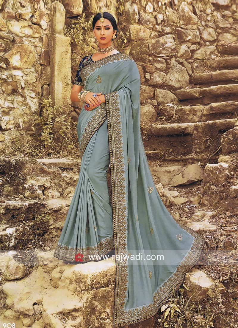 Gota Patti Work Designer Saree