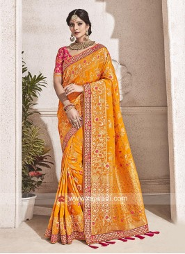 Gota Patti Work Heavy Wedding Saree