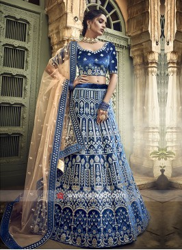 Gota Patti Work Blue Lehenga Choli
