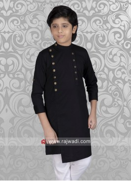 Graceful Black Kurta For Boys