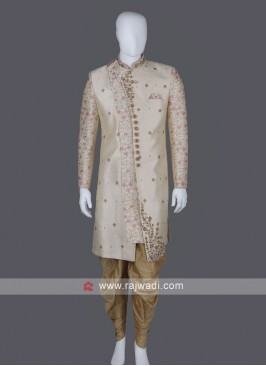 Graceful cream Sherwani