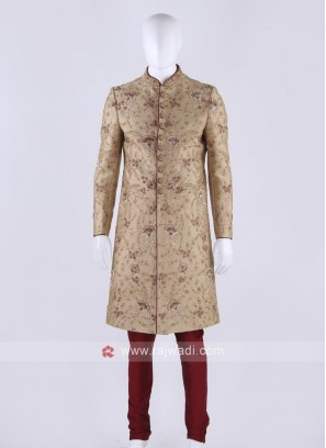 Graceful Golden Color Sherwani