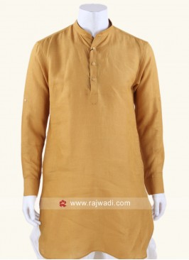 Graceful Golden Yellow Wedding Kurta