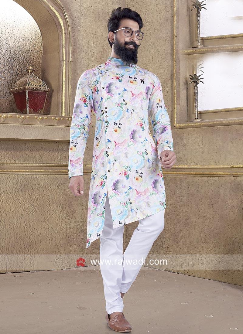 Graceful Multicolor Pathani Suit